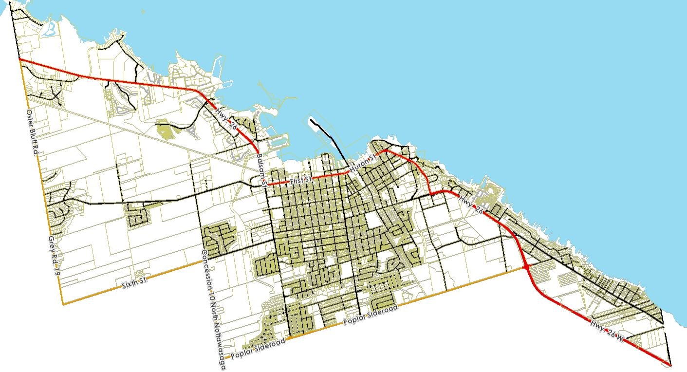 Town of Collingwood, County of Simcoe Map