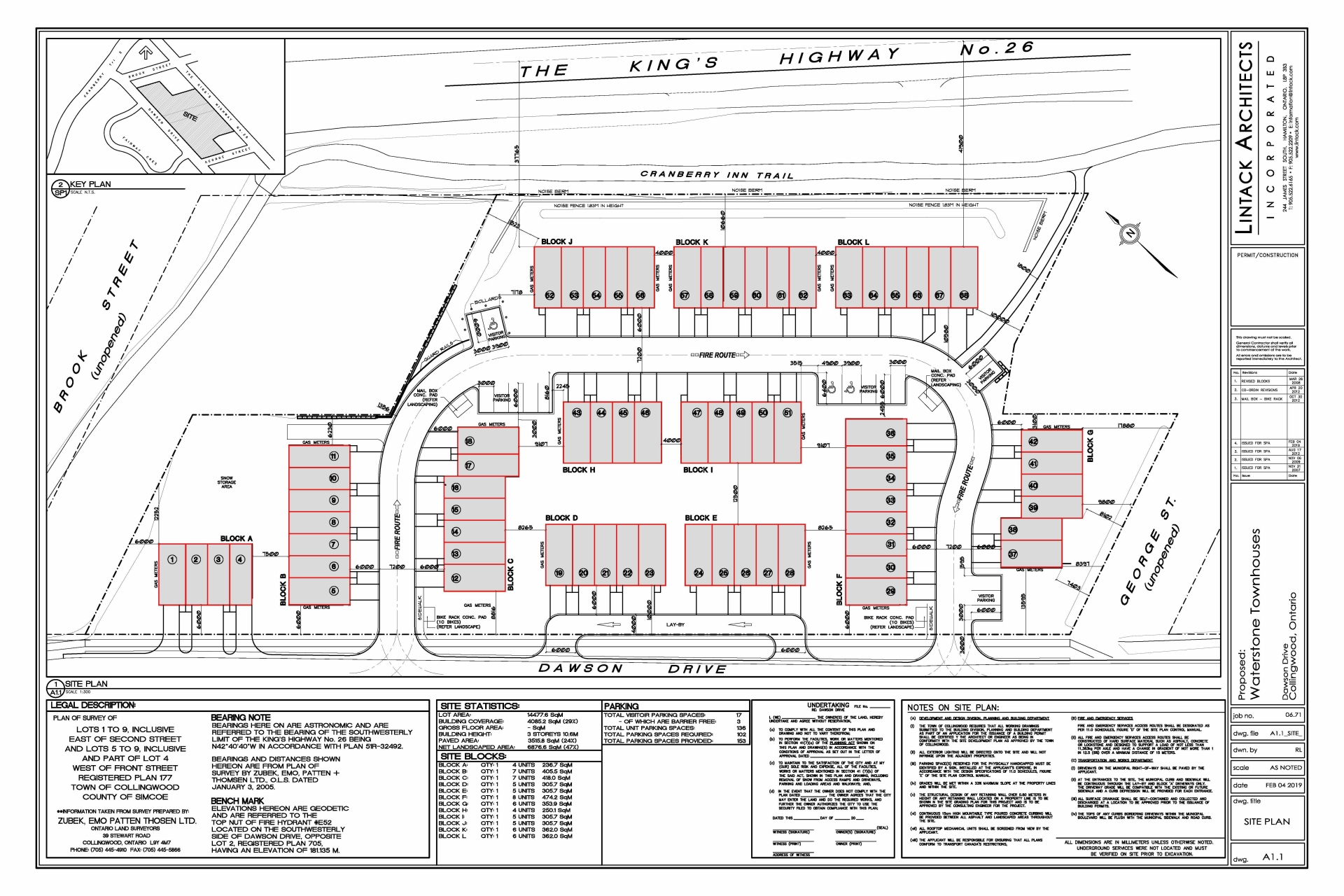 Site Plan of Waterstone Collingwood