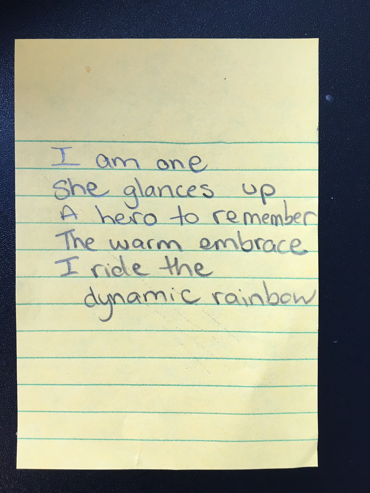 Poem-I Am One