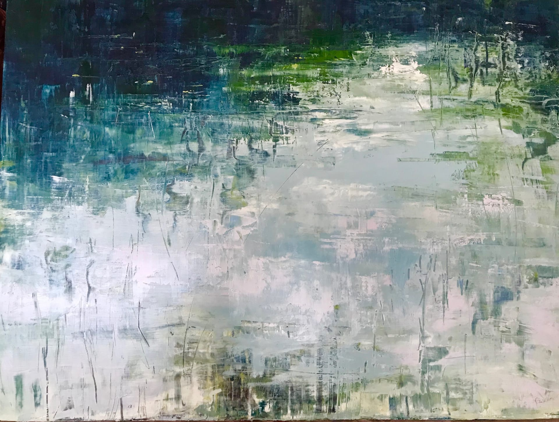 Painting of water by Sue Miller