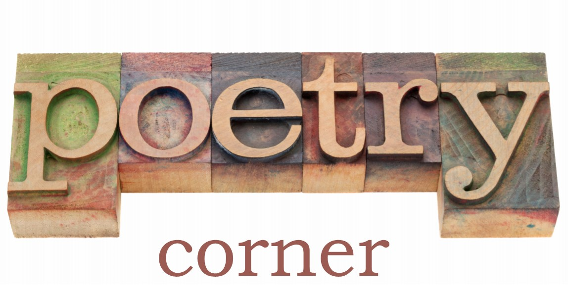 Block letters saying Poetry Corner