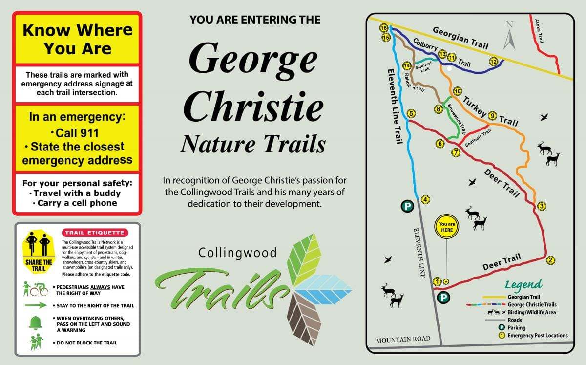 George Christie Nature Trails map