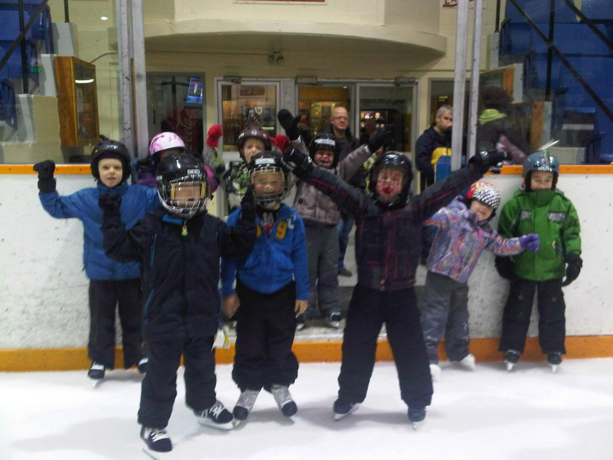 Group of kids on the rink
