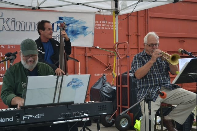 The Jim Kinnear Trio performing at the 2017 Arts and Music Festival