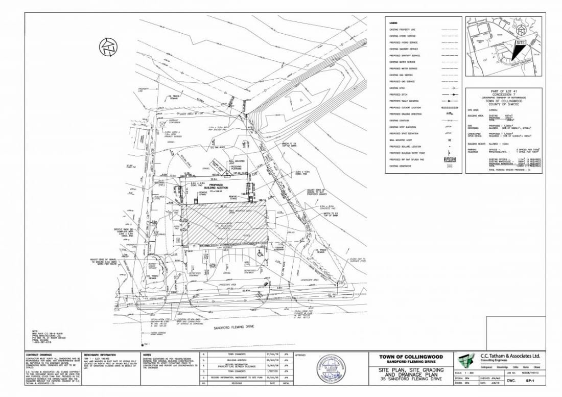 Site plan for Medatech located on 35 Sandford Flemin