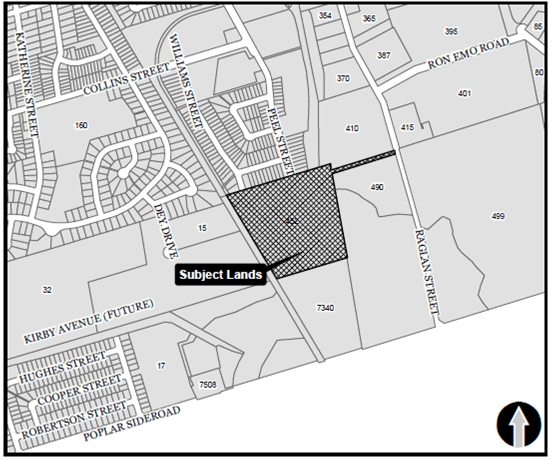 location map of 452 Raglan Street in the Town of Collingwood, Ontario