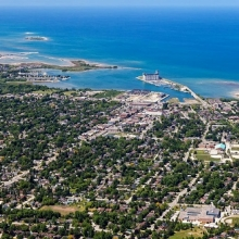 aerial view of Collingwood