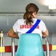 lifeguard in chair