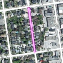 Road Closure Image on Pine St. from Third St. to Fourth St.