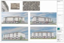 Image of proposed apartment building located at 655 HurontarioSt