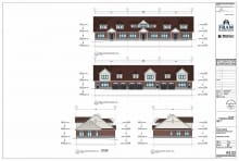 Elevations of The Shipyards Mackinaw Village Condominiums B and D