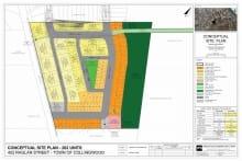 Concept Plan for 452 Raglan Street Draft Plan of Subdivision