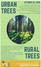 Poster for urban trees event